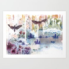 When Words Are Silent Art Print