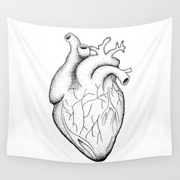 dotwork heart Wall Tapestry