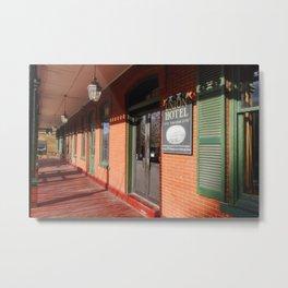 Entrance of the Historic Union Hotel, Flemington, New Jersey Metal Print