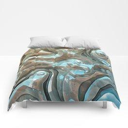 Abstract Metallic Layers  Comforters