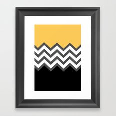 Color Blocked Chevron 6 Framed Art Print