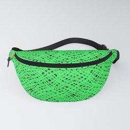 Green geometric Fanny Pack