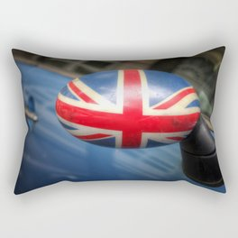 Union Jack painted on a rearview mirror Rectangular Pillow