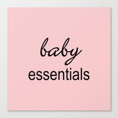 Baby Essentials Pantone 2016-Rose Quartz Canvas Print