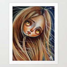 Little Red Head Art Print