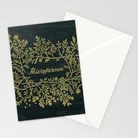 Microfarmer - Gold Stationery Cards