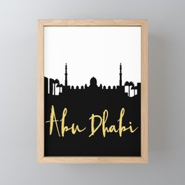 ABU DHABI UAE DESIGNER SILHOUETTE SKYLINE ART Framed Mini Art Print