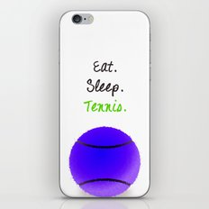 Eat. Sleep. Tennis.  (Black with Pink) iPhone & iPod Skin