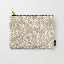 Brushstrokes Abstract Texture, Tan Carry-All Pouch