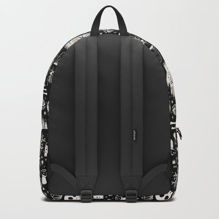 Curiosities: Bone Black Backpack