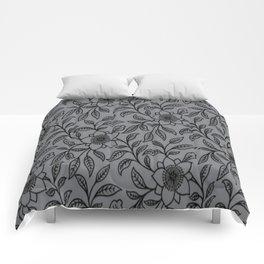 Vintage Lace Floral Sharkskin Comforters