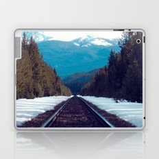 Train to Mountains Laptop & iPad Skin
