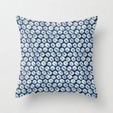 Shibori six Throw Pillow