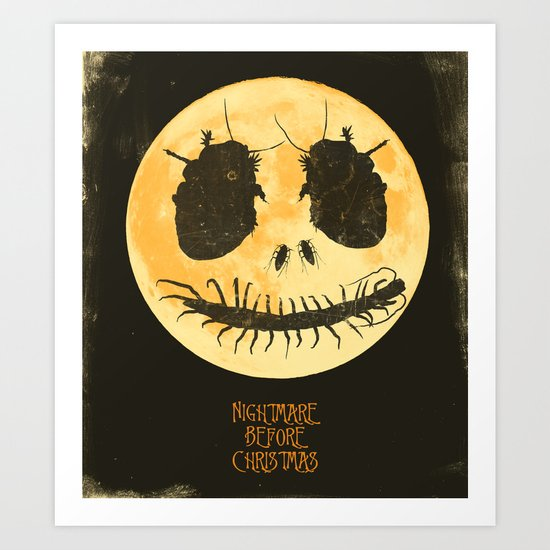 Nightmare Before Christmas - Movie Poster Art Print