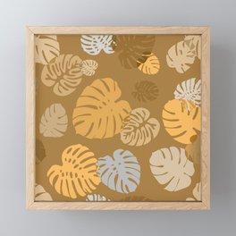 Multicolor Tropical Leaves 18 Framed Mini Art Print
