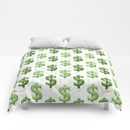 Dollar Sign Pattern Comforters