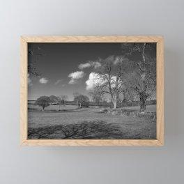 Winter Clouds Roll over the Mendips Framed Mini Art Print