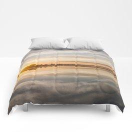Baltic sea and sunset Comforters