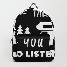 Talk about Motorhomes funny Camper Gift Backpack