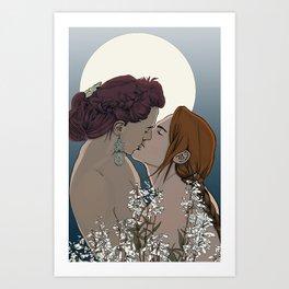 Penstemon Art Print