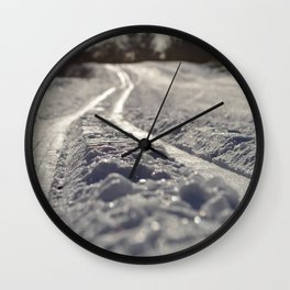 Skispor Wall Clock