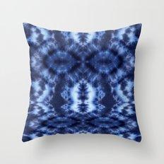 Topanga Tie-Dye Blue Throw Pillow