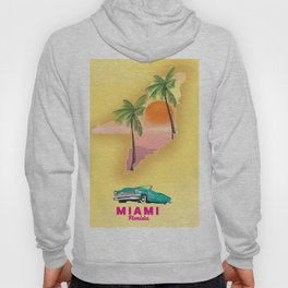 Miami Florida Vacation poster. Hoody