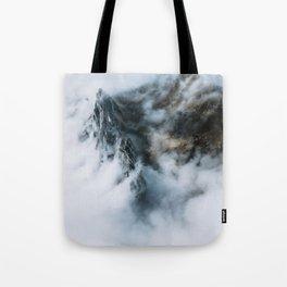 Moody Switzerland Mountain Peaks - Landscape Photography Tote Bag