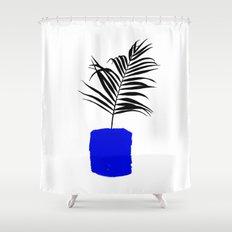 Blue Pot Shower Curtain