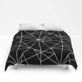 Abstract black white minimalist geometric pattern Comforters