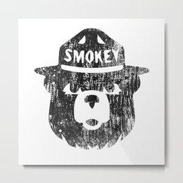 Smokey Bear Distressed Logo Metal Print