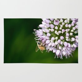 Honey Bee And Lavender Flower Rug