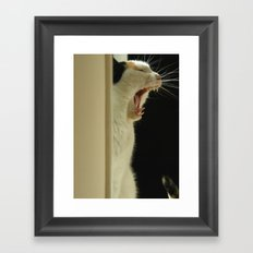 Roar! I'm a lion! Framed Art Print