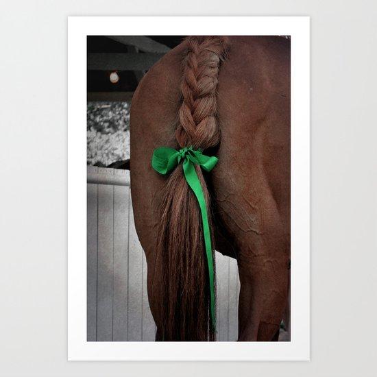 Braided horse tail Art Print