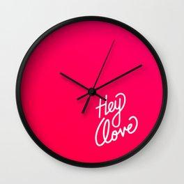 Hey love   [gradient] Wall Clock