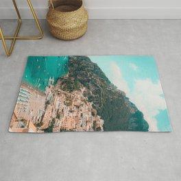 Italian Seaside City under a Mountain Rug