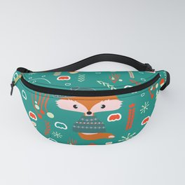 Cute fox waiting for Christmas Fanny Pack