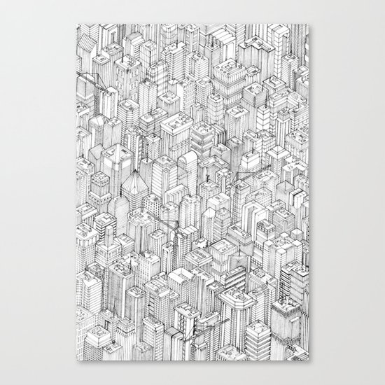 Isometric Urbanism pt.1 Canvas Print