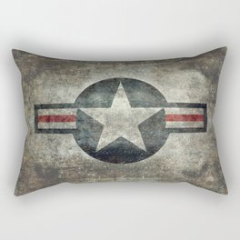 US Air force style insignia V2 Rectangular Pillow