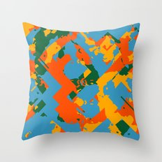 Different Color of Crazy Throw Pillow