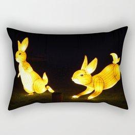 Two Little Rabbits Rectangular Pillow