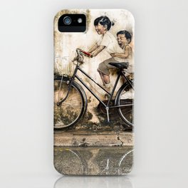 Kids on Bicycle - Reflections of Penang iPhone Case