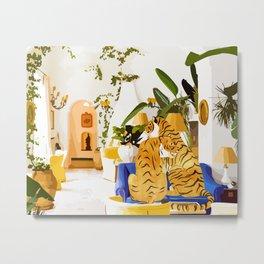 Tiger Reserve #painting #illustration #tigers #wildlife Metal Print
