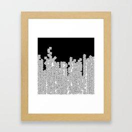 Minimalist black / White geometric Framed Art Print