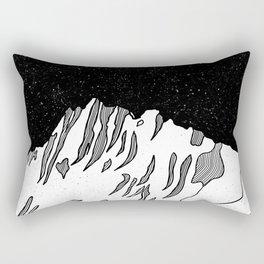 Puncak Jaya Mountain Black and White Rectangular Pillow