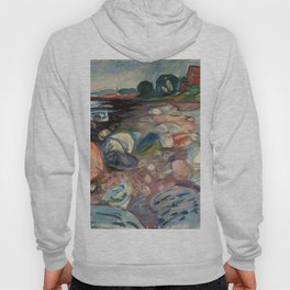 """Edvard Munch """"Shore with Red House"""", 1904 Hoody"""