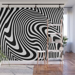 Optical Illusion Op Art Black And White Wall Mural