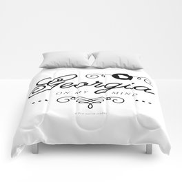 Georgia on My Mind (Southern Home State Series) Comforters