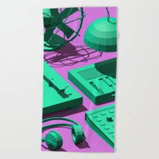 Low Poly Studio Objects 3D Illustration Beach Towel