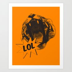 Jozzuv Lol (Orange) (Light on Dark Tee) Art Print